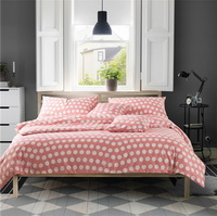 Biluoka Pink Bedding Set Luxury Bedding Scandinavian Design Duvet Cover Pillow Sham Flat Sheet Gift Idea