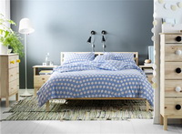 Whalenka Blue Bedding Set Luxury Bedding Scandinavian Design Duvet Cover Pillow Sham Flat Sheet Gift Idea