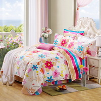 Blossom Square Pink Bedding Set Kids Bedding Teen Bedding Duvet Cover Set Gift Idea