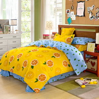 Oranges Yellow Bedding Set Kids Bedding Teen Bedding Duvet Cover Set Gift Idea