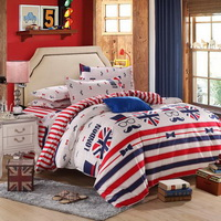 British Gentlemen Red Bedding Set Modern Bedding Cheap Bedding Discount Bedding Bed Sheet Pillow Sham Pillowcase Duvet Cover Set