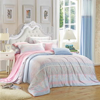 April Pink Bedding Set Girls Bedding Floral Bedding Duvet Cover Pillow Sham Flat Sheet Gift Idea