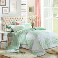 Beautiful Days Of Youth Green Bedding Set Girls Bedding Floral Bedding Duvet Cover Pillow Sham Flat Sheet Gift Idea