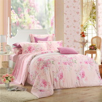 Beauty Everywhere Pink Bedding Set Girls Bedding Floral Bedding Duvet Cover Pillow Sham Flat Sheet Gift Idea