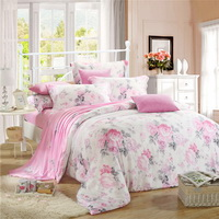 Blue And White Porcelain Pink Bedding Set Girls Bedding Floral Bedding Duvet Cover Pillow Sham Flat Sheet Gift Idea