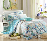 Felicity Blue Bedding Set Girls Bedding Floral Bedding Duvet Cover Pillow Sham Flat Sheet Gift Idea