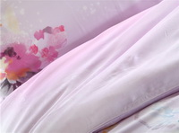 Mist Covered Waters Pink Bedding Set Girls Bedding Floral Bedding Duvet Cover Pillow Sham Flat Sheet Gift Idea