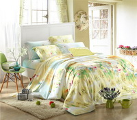 Nordic Style Yellow Bedding Set Girls Bedding Floral Bedding Duvet Cover Pillow Sham Flat Sheet Gift Idea