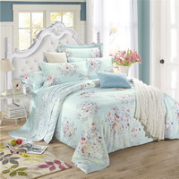 Open Country Blue Bedding Set Girls Bedding Floral Bedding Duvet Cover Pillow Sham Flat Sheet Gift Idea
