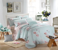 Orchid Dream Blue Bedding Set Girls Bedding Floral Bedding Duvet Cover Pillow Sham Flat Sheet Gift Idea