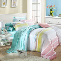 Quiet Blue Bedding Set Girls Bedding Floral Bedding Duvet Cover Pillow Sham Flat Sheet Gift Idea