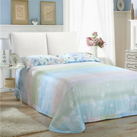 Summer Light Blue Bedding Set Girls Bedding Floral Bedding Duvet Cover Pillow Sham Flat Sheet Gift Idea