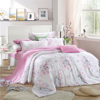 Taste Of Happiness Pink Bedding Set Girls Bedding Floral Bedding Duvet Cover Pillow Sham Flat Sheet Gift Idea
