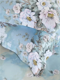 White Lover Blue Bedding Set Girls Bedding Floral Bedding Duvet Cover Pillow Sham Flat Sheet Gift Idea