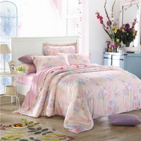 Young Girl Pink Bedding Set Girls Bedding Floral Bedding Duvet Cover Pillow Sham Flat Sheet Gift Idea