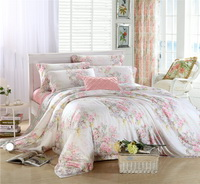 Coloured Glaze Pink Bedding Set Luxury Bedding Girls Bedding Duvet Cover Pillow Sham Flat Sheet Gift Idea