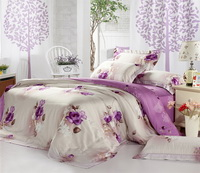 Flower Language Purple Bedding Set Luxury Bedding Girls Bedding Duvet Cover Pillow Sham Flat Sheet Gift Idea