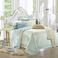 Gentle And Cultivated Blue Bedding Set Luxury Bedding Girls Bedding Duvet Cover Pillow Sham Flat Sheet Gift Idea