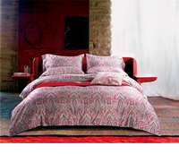 Mandy Red Bedding Set Luxury Bedding Collection Pima Cotton Bedding American Egyptian Cotton Bedding