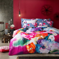 Fragrance Of Flowers Red Bedding Set Modern Bedding Collection Floral Bedding Stripe And Plaid Bedding Christmas Gift Idea