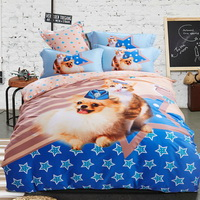 Puppy And Kitty Blue Bedding Set Modern Bedding Collection Floral Bedding Stripe And Plaid Bedding Christmas Gift Idea