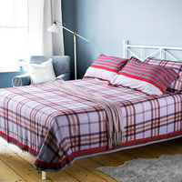 Rhys Red Bedding Set Modern Bedding Collection Floral Bedding Stripe And Plaid Bedding Christmas Gift Idea