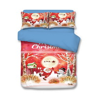 Christmas Forest Red Bedding Duvet Cover Set Duvet Cover Pillow Sham Kids Bedding Gift Idea