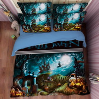Halloween Forest Blue Bedding Duvet Cover Set Duvet Cover Pillow Sham Kids Bedding Gift Idea