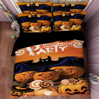 Halloween Pumpkin Lantern Yellow Bedding Duvet Cover Set Duvet Cover Pillow Sham Kids Bedding Gift Idea