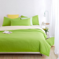 Beige Green Bedding Set Duvet Cover Pillow Sham Flat Sheet Teen Kids Boys Girls Bedding