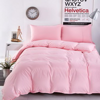 Solid Coral Bedding Set Duvet Cover Pillow Sham Flat Sheet Teen Kids Boys Girls Bedding