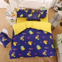 Stars Blue Bedding Set Duvet Cover Pillow Sham Flat Sheet Teen Kids Boys Girls Bedding
