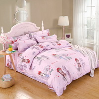 Travel Pink Bedding Set Duvet Cover Pillow Sham Flat Sheet Teen Kids Boys Girls Bedding