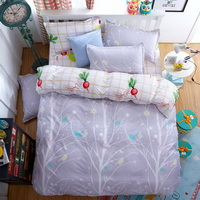 Trees Grey Bedding Set Duvet Cover Pillow Sham Flat Sheet Teen Kids Boys Girls Bedding