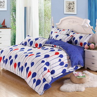 Water Drop White Bedding Set Duvet Cover Pillow Sham Flat Sheet Teen Kids Boys Girls Bedding