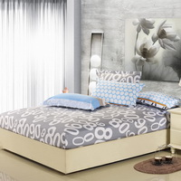 8090 Blue 100% Cotton 4 Pieces Bedding Set Duvet Cover Pillow Shams Fitted Sheet