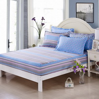 Abstract Pattern Blue 100% Cotton 4 Pieces Bedding Set Duvet Cover Pillow Shams Fitted Sheet
