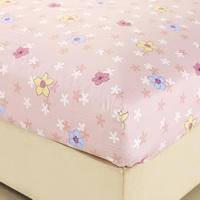 Heavenly Fragrance Pink 100% Cotton 4 Pieces Bedding Set Duvet Cover Pillow Shams Fitted Sheet
