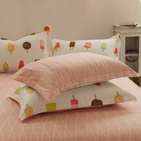 Ice Cream Beige 100% Cotton Luxury Bedding Set Kids Bedding Duvet Cover Pillowcases Fitted Sheet