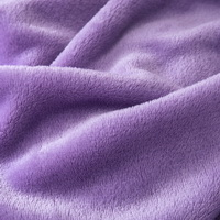 Light Purple Velvet Flannel Duvet Cover Set for Winter. Use It as Blanket or Throw in Spring and Autumn, as Quilt in Summer.