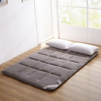 Gray Grey Flannel Japanese Floor Futon Mattress Sleeping Pad Tatami Mat Japanese Bed Roll Foldable Roll Up Mattress Futon Memory Foam Rolling Bed Shikibuton