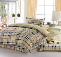 Plaid Yellow 3 Pieces Boys Bedding Sets