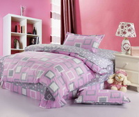 Plaid Pink 3 Pieces Girls Bedding Sets