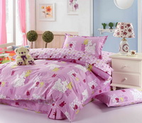 Rabbit Pink 3 Pieces Girls Bedding Sets