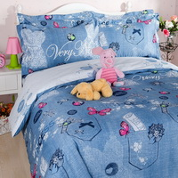 Princess Jeans Kids Bedding Sets For Girls