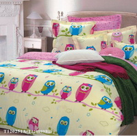 Yellow Owl Girls Bedding Sets