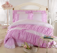 Hearts Purple Girls Bedding Sets