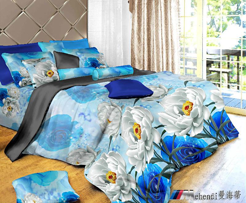 Colorful Mart: Blue Enchantress Duvet Cover Set 3D Bedding