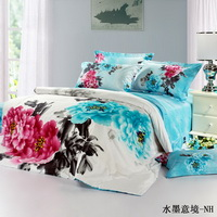 Water Ink Paintings Duvet Cover Sets Luxury Bedding