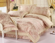Charming Flowers Camel 4 PCs Luxury Bedding Sets